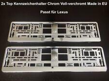 2x Top Kennzeichenhalter Chrom Voll-verchromt Hochglanz Made in EU 52x11cm (34