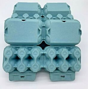 150 X NEW HALF DOZEN FLAT TOP EGG BOXES IN BLUE SUITABLE FOR MED TO LARGE EGGS
