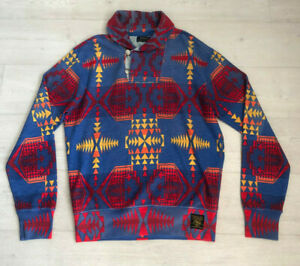 Vintage 90s Polo Ralph Lauren Aztec Southwestern Sweatshirt  - Size Medium