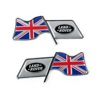 2Pcs Union Jack Flag Aluminum Alloy Car Badge Emblems Fit For Land rover Car