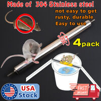 4X Spin Ringer Mice Log Roll Into Bucket Rolling Mouse Rats Stick Rodent Trap