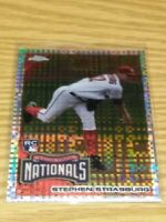 STEPHEN STRASBURG WASHINGTON NATIONALS 2010 TOPPS CHROME XFRACTOR ROOKIE CARD SP