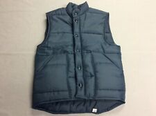 New listing Vintage 80S King Louie Blue Puffer Vest Snap Button Up Jacket Medium Union Made!
