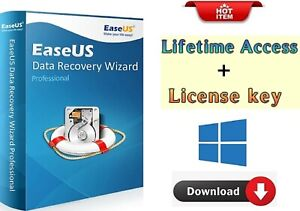 EaseUs Data Recovery Wizard Professional-Lifetime License-Fast Delivery
