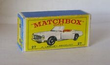 Repro box MATCHBOX 1:75 Nº 27 MERCEDES BENZ 230 sl