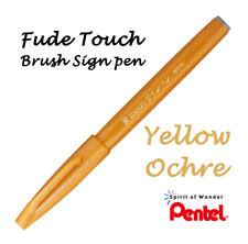 Pentel Fude (Flexible tip) Touch sign brush pen: Yellow Ochre