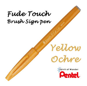 Pentel : Fude (Flexible tip) Touch sign brush pen: Yellow Ochre