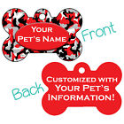 Red Camo Double Sided Pet Id Dog Tag Personalized for Your Pet