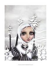 Angelina Wrona Eirwen Illustration Figurative Winter Woman Print Poster 11x14