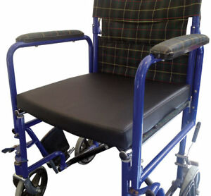 Vinyl Pressure Relief Memory Foam Wheelchair Cushion With Cover