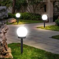 3pcs / Set LED Solar Exterior Bola Lámparas Jardín Luces Espiga Lámpara Blanco