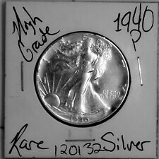 1940 Walking Liberty Silver Half Dollar HIGH Grade Rare US Coin #120132