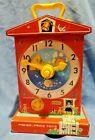 Vintage 1962 1968 Fisher Price Music Box Teaching Clock Working