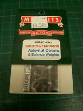 4mm Markits Balance Weights & Axle-Nut Covers For GWR 31/43/51/61/68/78xx