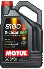 Olio Motore Motul 8100 X-CLEAN EFE C2 C3 Confezione da 5 LT 5w30 Sintetico