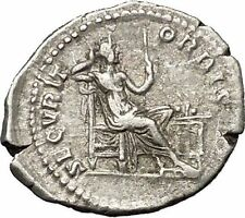 CARACALLA Authentic Rare Ancient Silver Roman Coin Securitas Security  i52280