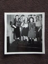 COWGIRLS & MEN WITH CLOWN MAKEUP FROM COSTUME PARTY POSING VTG 1941 PHOTO