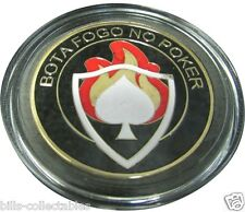 BOTA FOGO NO POKER gold color Poker Card Guard Protector