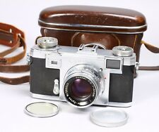 CONTAX IIA 35MM FILM CAMERA RANGEFINDER W/ SONNAR T 5CM 50MM F/2 & CASE