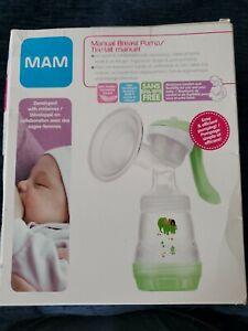 MAM Manual Breast Pump, fast efficient pumping w/ anti-colic bottle*NEW*