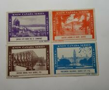 Set of 4 Know Canada Series Postage Stamps