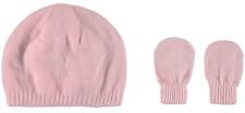 Kids & Co Baby Girl 0 Cute Blushing Pink Beanie Mitten Set Soft Knit Acrylic