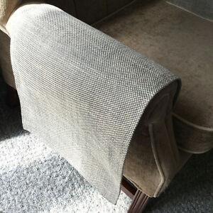 LUXURY Chair Arm Back Cover LAST PAIR Antimacassar Sofa Armchair SILVER GREY