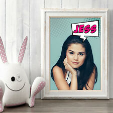 SELENA GOMEZ Personalised Poster A5 Print Wall Art Custom Name ✔ Fast Delivery ✔
