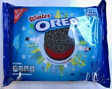 NEW WINTER OREO CHOCOLATE SANDWICH COOKIES 15.35 OZ SAME GREAT TASTE RED CREME