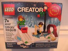 LEGO CREATOR SEASONAL WINTER SKATING SCENE 40107,NEW SEALED 2014 LIMITED EDITION