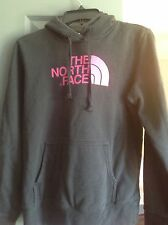 The North Face youth girls sweatshirt S/P black with pink lettering hooded youth