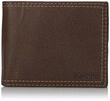 LEVI'S WALLET 31LV2402 Black or Brown Men's Bifold Wallet with Zipper Levis