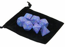 New Chessex Polyhedral Dice with Bag Silver Tetra Speckled 7 Piece Set DnD RPG