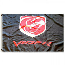 DODGE VIPER FLAG BANNER 3X5FT GARAGE MANCAVE V10 SRT RT 10 ACR VENOM