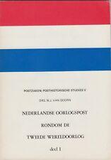 Nederlandse Oorlogspost rondom de Tweede Wereldoorlog door W.J. van Doorn, 1978