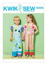 Kwik Sew SEWING PATTERN K4205 Novelty Toddlers Overalls/Dungarees T1-T4