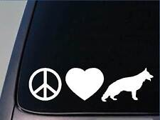 "Peace love German Shepherd sticker *H89* 8"" vinyl schutzhund"