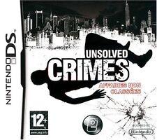 Unsolved crimes - JEU - NINTENDO DS