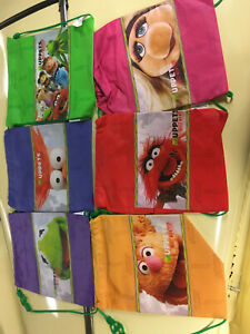 6 Muppets Most Wanted Subway lunch duffle backpacks,NEW,SUBWAY Muppets duffles