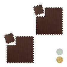 18 x Bodenschutzmatte Turnmatte Puzzlematte Holzoptik Sportmatte Unterlegmatte
