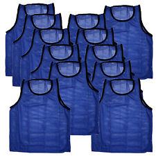 12 Jersey practice uniform pinnie pennie lacrosse field hockey ADULT BLUE