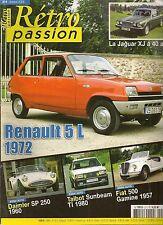 RETRO PASSION 211 RENAULT 5 L DAIMLER SP 250 TALBOT SUNBEAM TI FIAT 500 GAMINE