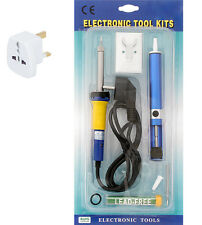 Soldering set for soldering small electronic components.