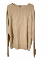 100% Cashmere Ike Behar Cable Knit Sweater