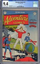 ADVENTURE COMICS #154  CGC  9.4  NM  VERY TOUGH 1950 ERA!  NICE OW/WHITE PAGES!