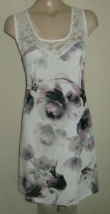 LADIES FAB CREAM BLACK LILAC LONG TOP DRESS SIZE 30 32 UK PLUS SIZE YOURS