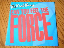 """REAL THING - CAN YOU FEEL THE FORCE (86 MIX)   7"""" VINYL PS"""