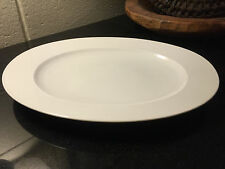 "Rosenthal Continental Composition White 12 1/2"" Oval Serving Platter"