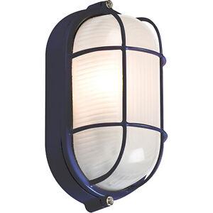 LED 5w BLACK OUTDOOR GARDEN SECURITY BULKHEAD BULK HEAD LIGHT LAMP LANTERN IP54