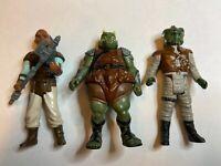 "Kenner Vintage 3.75"" Star Wars Klaatu-Gamorrean-Weequay Action Figures Lot"